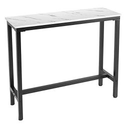 Mr IRONSTONE 47″ Pub Dining Table, Bar Height Table with MDF Top Covered with Laminate Mar ...