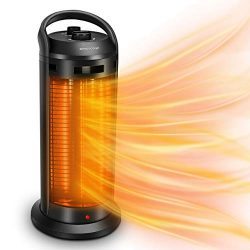 TRUSTECH Space Radiant Heater – Infrared Heater, 120° Oscillation Adjustable Electric Heat ...