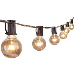 Globe String Lights with G40 Clear Bulbs- UL Listed for Commercial Use, Retro Indoor/Outdoor 100 ...
