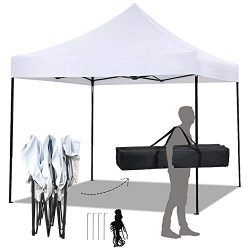 FDW Pop Up Canopy 10×10 Pop Up Canopy Tent Party Tent Ez Up Canopy Sun Shade Wedding Instan ...