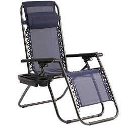 Zero Gravity Chair Patio Lounge Chairs Lounge Patio Chaise 1 Pack Adjustable Reliners for Pool Y ...