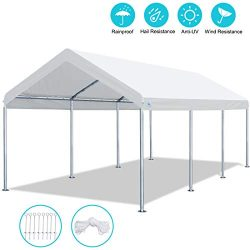 ADVANCE OUTDOOR 10 x 20 FT Heavy Duty Carport Car Canopy Garage Shelter Party Tent, Adjustable H ...