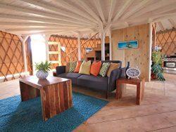 Two Yurts and a Gazebo
