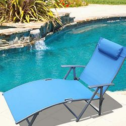 Le Papillon Adjustable Chaise Lounge Chair Recliner Outdoor Patio Pool Folding Lounge Chair R ...