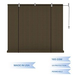 E&K Sunrise Roll up Shade Roller Shade 8'Wx6'H Porch Pergola Privacy Screen Roll ...