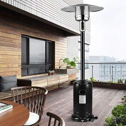 mecor Patio Heaters Commercial 41,000 BTU Propane Stainless Steel Outdoor Garden Heate (Black)