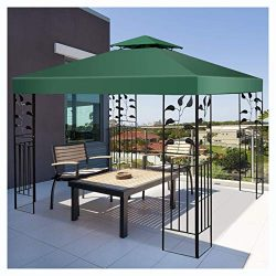 Canopy & Gazebo, 10′ x 10′ 1-Tier or 2-Tier 3 Colors Patio Canopy Top Replacemen ...