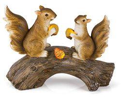 Dawhud Direct Squirrels on a Log Solar Garden Light