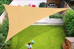 Triangle Sun Shade Sail Canopy,13′ x 13'x 13′ Strengthen Outdoor Shade Cloth P ...