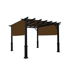 Alion Home Universal Pergola Replacement Canopy Shade Cover with Breathable HDPE Fabric & Ro ...