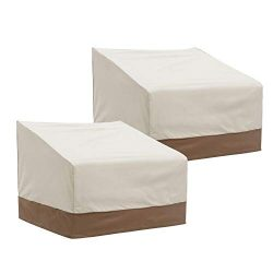 Finnhomy Patio Chair Covers Set of 2 Waterproof Outdoor Protective Furniture Cover for Garden Lo ...