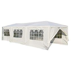 10'x30′ Heavy Duty Canopy Gazebo Outdoor Party Wedding Tent Pavilion with 6 Removabl ...