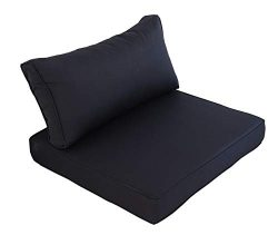 Outime Indoor/Outdoor 2pcs Navy Cushions Set,Rplacement Cushions for Patio Furniture