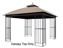APEX GARDEN Canopy Top for Garden Treasures 10 ft x 10 ft Brown Metal Square Semi- Gazebo Model  ...