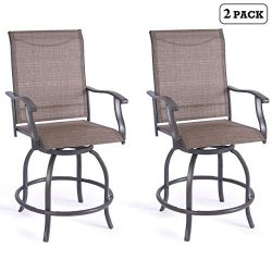 Kozyard Isabella High Swivel Bar Stools/Chair Set for Home Patio, Back Yard, Cafes, Bistro, Rest ...
