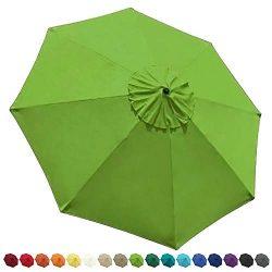 EliteShade 9ft Patio Umbrella Market Table Outdoor Deck Umbrella Replacement Canopy (Macaw Green)