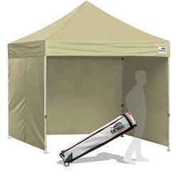 Eurmax 8×8 Feet Ez Pop up Canopy Tent, Pop-up Instant Tent, Outdoor Canopies Commercial Gaz ...