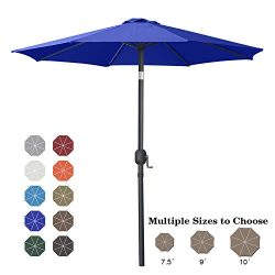 ABCCANOPY 7.5′ Patio Umbrella Table Market Umbrella with Push Button Tilt for Garden, Deck ...