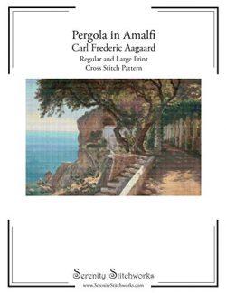 Pergola in Amalfi –  Carl Frederic Aagaard – Cross Stitch Pattern: Regular and Large ...