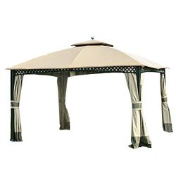 Garden Winds Replacement Canopy for The Windsor Gazebo – Standard 350 – Beige