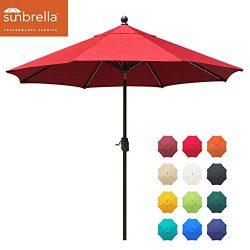 EliteShade Sunbrella 9Ft Market Umbrella Patio Outdoor Table Umbrella with Ventilation and 5 Yea ...
