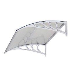 FCH Window Awning Door Canopy, 30″ x 40″ Window Awning Overhead Door Modern Polycarb ...