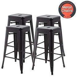 30 Inches Metal Chairs Bar Stools Counter Height Barstools Industrial Bar Chairs Patio Furniture ...
