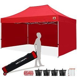 ABCCANOPY Canopy Tent 10×15 Pop Up Canopy Tent Commercial Instant Shade Tent with Upgrade R ...