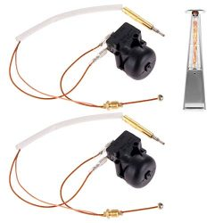 New Propane Gas Patio Heater Repair Replacement Parts Thermocoupler & Dump Switch Control Sa ...