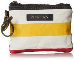 Pendleton Women's Canopy Canvas ID Pouch Key Ring, glacier stripe, One Size