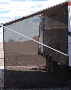 Tentproinc RV Awning Side Shade 9'X7′ – Black Mesh Screen Sunshade Complete Ki ...