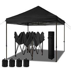 MEWAY 10'x10′ Commercial Ez Pop Up Canopy Tent Instant Canopy Party Tent Sun Shelter ...