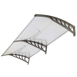 FCH Window Awning Door Canopy, 40″ x 80″ Window Awning Overhead Door Modern Polycarb ...