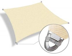 Patio Paradise Large Sun Shade Sail 24′ x 24′ Rectangle Heavy Duty Strengthen Durabl ...