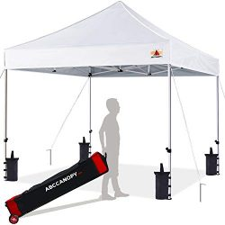 ABCCANOPY 8×8 Canopy Tent Pop up Canopy Outdoor Canopy Commercial Instant Shelter with Whee ...