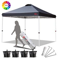 MASTERCANOPY Compact Canopy Pop up Canopy Portable Shade Instant Folding Better Air Circulation  ...