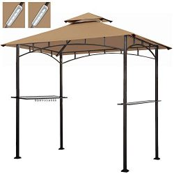 Keymaya 8×5 Grill Gazebo Shelter for Patio and Outdoor Backyard BBQ's, Double Tier So ...