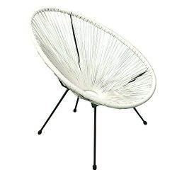 Acapulco Sun Oval Outdoor Patio Chair All-Weather Patio Indoor Outdoor Acapulco Weave Lounge Cha ...