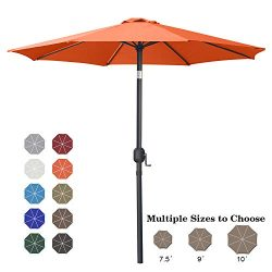 ABCCANOPY 9′ Patio Umbrella Table Market Umbrella with Push Button Tilt for Garden, Deck,  ...