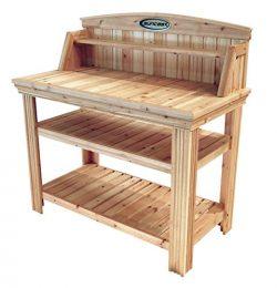 Suncast Cedar Freestanding Bench Ideal for Garages, Sheds, Basements – Organize Garden Equ ...