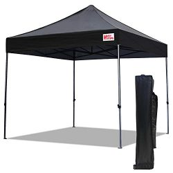 MASTERCANOPY Pop Up Canopy Tent 10×10 Commercial Instant Canopies with Heavy Duty Roller Ba ...