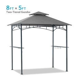 Coastshade 5'x8′ Grill Gazebo Canopy Tent, Polyester Double Teir Soft Top Cover with ...