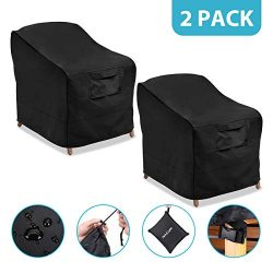 """NASUM Patio Chair Covers, 2 Pack Lounge Deep Seat Cover, 38"""" Lx31"""" Wx29"""" H, 60 ..."""