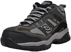 Skechers for Work Men's Soft Stride Canopy Slip Resistant Work Boot, Charcoal 13