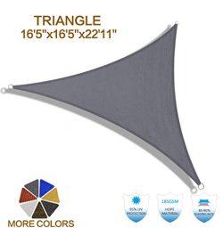 """HENG FENG 16'5""""x16'5""""x22'11"""" Charcoal Triangle Sun Shade Sai ..."""