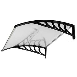 FCH Window Awning Door Canopy, 40″ x 40″ Window Awning Overhead Door Modern Polycarb ...