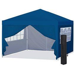 Best Choice Products 10x10ft Portable Pop Up Canopy Tent w/Detachable Window Walls, Zip-Up Doorw ...