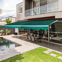 AECOJOY 8.2'×6.5′ Patio Awning Retractable Sun Shade Awning Cover Outdoor Patio Cano ...