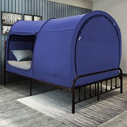 Bed Tent Dream Tents Bed Canopy Shelter Cabin Indoor Privacy Pop Up Warm Breathable Full Size fo ...