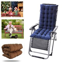 Finebaby Multi-Function Seat Patio Cushion – 8 Ties Chaise Lounger Cushion for Indoor/Outd ...